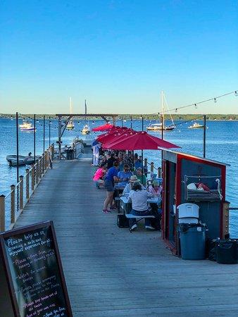 Surry, ME: Pier dining