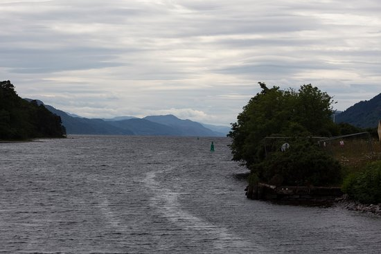Loch Ness Sightseeing Cruise Including Urquhart Castle: View as the boat enters Loch Ness