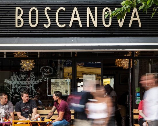 Cafe Boscanova is situated in Boscombe.