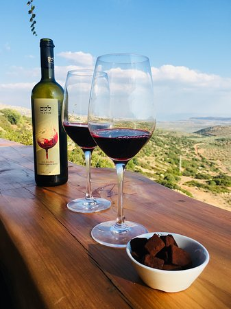 Lotem Winery: המרפסת עם הנוף