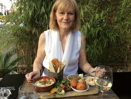 Rock and Rose Restaurant: The vegetarian platter at Rock & Rose