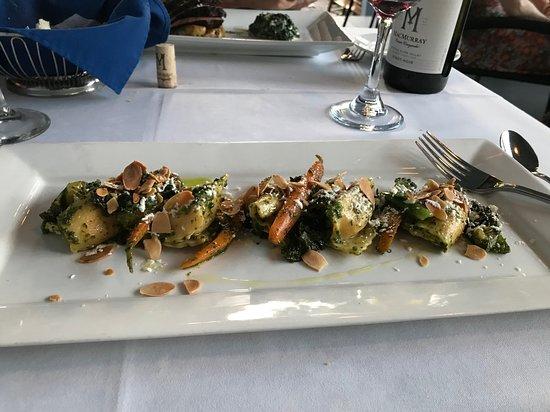 The Blue Rose Inn & Restaurant: Carrot and Ricotta Angnolotti