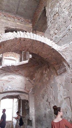 Bontida, Romania: Decayed castle's indoor