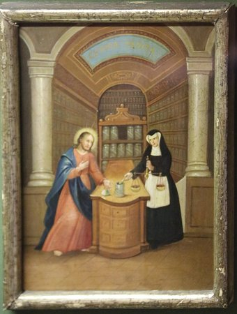 Christ as Apothecary painting