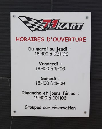 Dracy-le-Fort, Francia: Le Kart 71 à Dracy le fort (Karting)