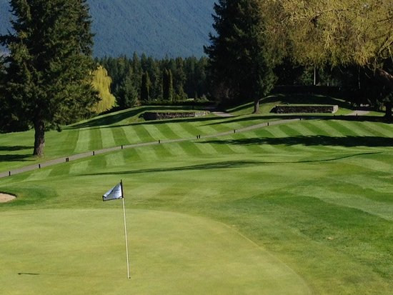 Blind Bay, Canada: Dine at Duffer's Den Family Restaurant and Lounge  overlooking the Ninth hole.