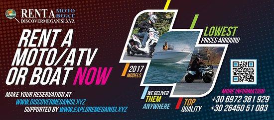 Discover Meganisi - Rent a Moto/Boat