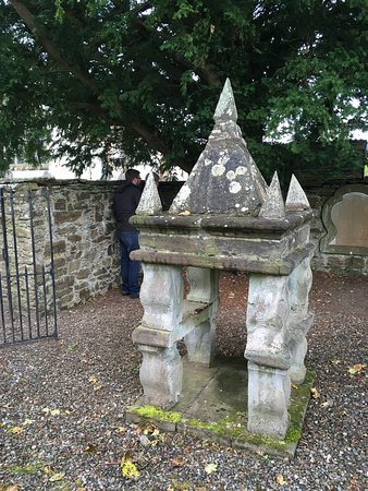 Fortingall, UK: Belfry that likely held a bell that rang at GGGrandparents wedding 1807
