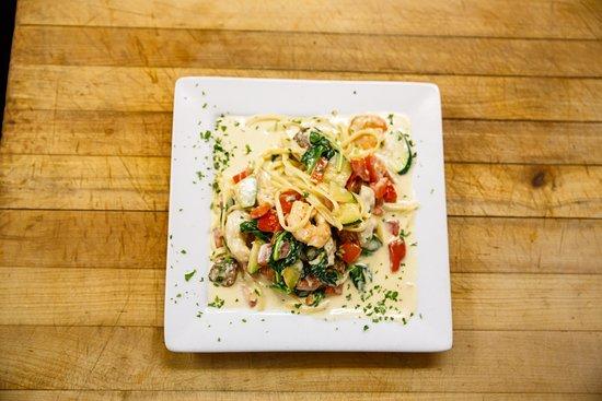 """Pittsfield, VT: Our """"Crazy Alfredo"""" pasta dish"""