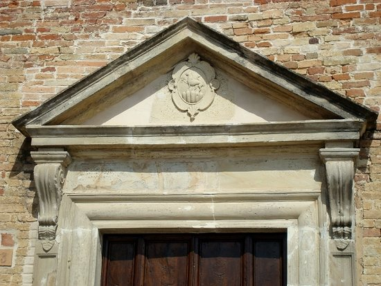 Ripatransone, Italy: Particolare del portale