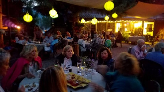 Swan Lake, MT: An elegant evening of food, wine and friends in the garden.
