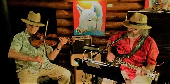 Swan Lake, MT: Performances by local talent...Electric Avenue Blues (minus the pig)