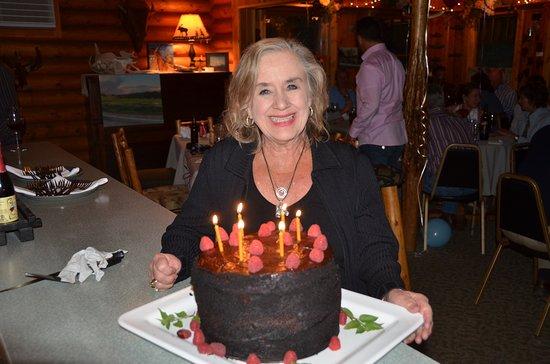 Swan Lake, MT: Birthday celebrations at the Horse are chocolately splendiferous!