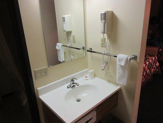 Super 8 By Wyndham Buffalo The Sink Is Outside Bathroom