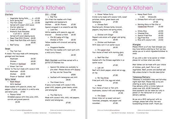 channys kitchen asia menu - Asia Kitchen Menu