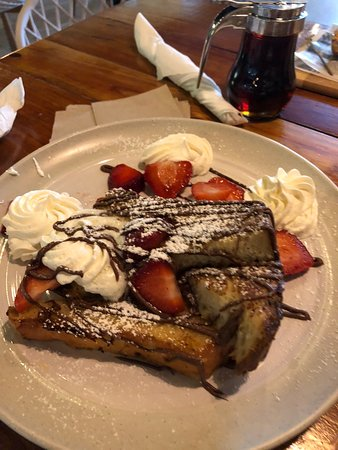 Yauco, Puerto Rico: French Toast - Nutella with Strawberries! Awesome!