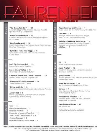 brunch menu シャーロット fahrenheitの写真 トリップアドバイザー