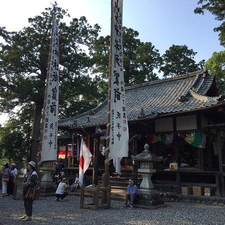 Mori-machi, Ιαπωνία: 毎年7月15日頃に祭礼の祇園祭があります。 この神社の奉納舞に蟷螂(とうろう、カマキリのこと)の舞というのがあり、京都の祇園祭の蟷螂山とつながりがあるとのこと。京都では途絶えてここに残るのみと