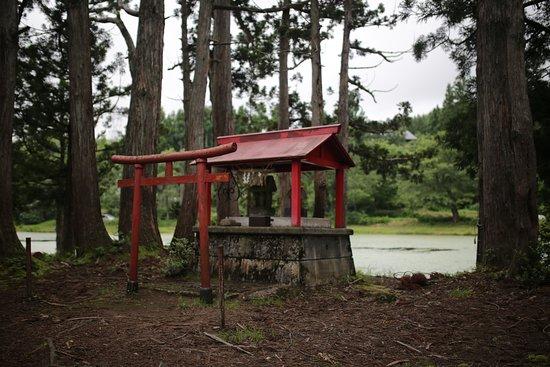 Minamiuonuma, Japón: お松の池:弁天