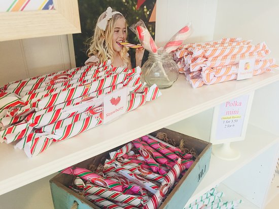 Swedish Candy Factory: The many flavors of Polkagris (Swedish candy canes)