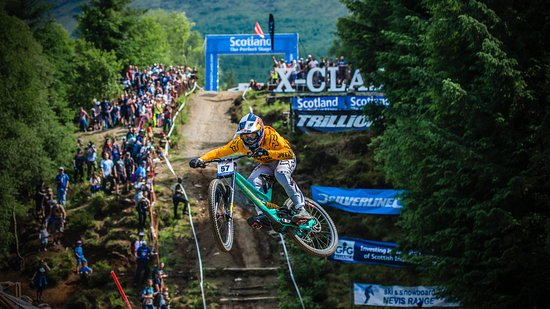 Torlundy, UK: Downhill World Cup action