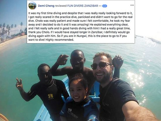 FUN DIVERS ZANZIBAR – Demi Cheng shared her story about Discover Scuba Diving with us