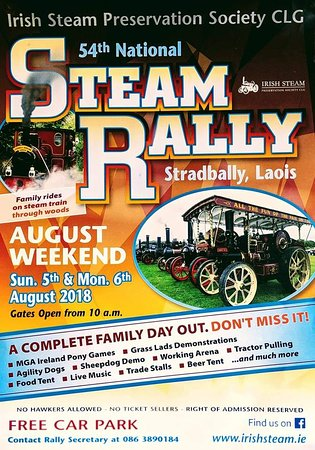 Stradbally, ไอร์แลนด์: The annual national steam rally will take place this August Bank Holiday weekend