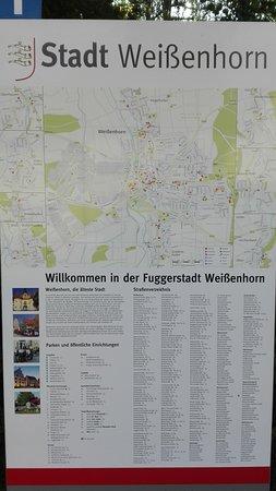 Weissenhorn, Německo: Plattegrond van de stad voor de deur.