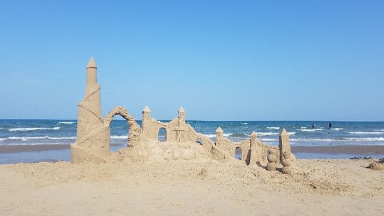 South Padre Island Sand Castle Lessons, with Dennis