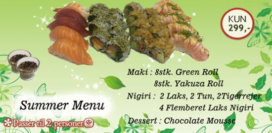 Takeasy Sushi: Lovely Summer Menu.
