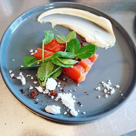 Vejby, Danmark: honey  / snaps salmon