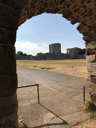 Portchester, UK: View from church towards tower