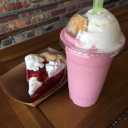 The Ugly Pie: Strawberry pie - try any slice as a milkshake!