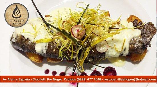 Cipolletti, Argentina: Trucha al Roquefort