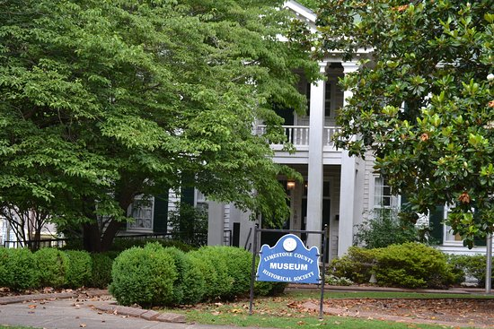 Athens, AL: The Houston Memorial Library, previously the home of Governor George S. Houston built in 1835.