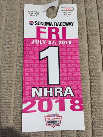 Sonoma Raceway: Preferred Parking Pass