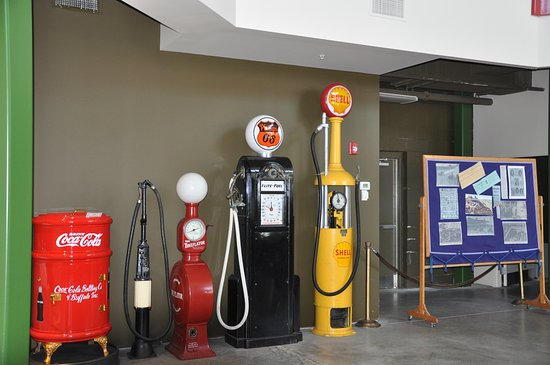 Old Gas Pumps, tire pumps and Coke machine - Picture of Pierce-Arrow