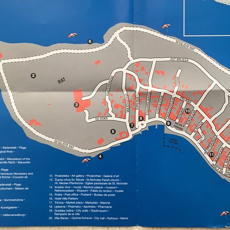 Map of Cavtat for tourists Picture of Cavtat Old Town Cavtat