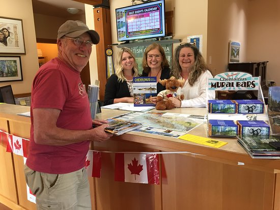 Chemainus Visitor Centre: Great pleasure!