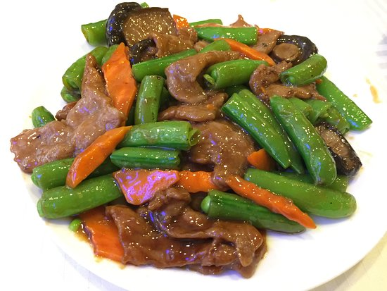 Rowland Heights, Калифорния: Beef with oyster sauce 蠔油牛肉