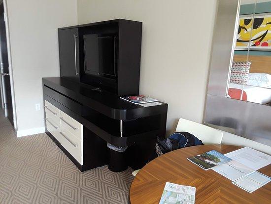 Dresser and TV studio