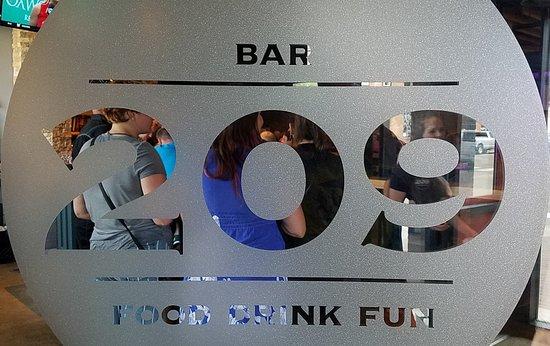 Bar 209: Inside Door