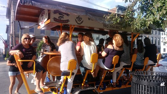 Fun time on the Thirsty Pedaler!