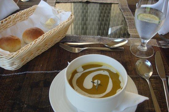 Soup anyone? Vipingo Ridge's food offerings were very tasty