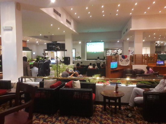 Sheraton Lagos Hotel: Lounge during WC events