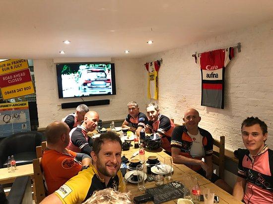 Cafe Velo: Well deserved food after 65 miles