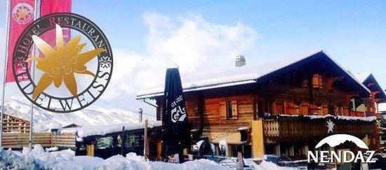 Haute-Nendaz, Swiss: L'Edelweiss est situé au pied des remontées mécaniques de Tracouet!