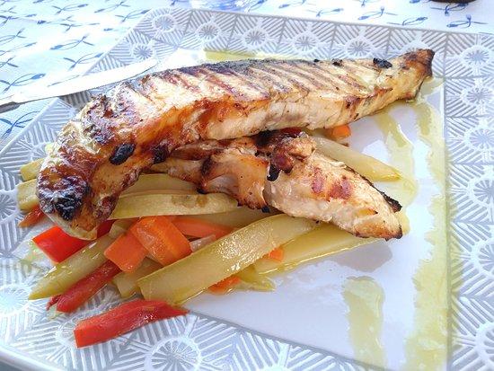 trancio pesce alla griglia