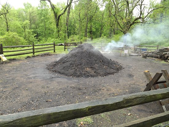 Elverson, PA: Process of Making Charcoal