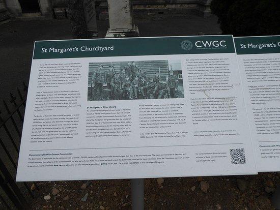St. Margaret's Church: Commonwealth War Graves information